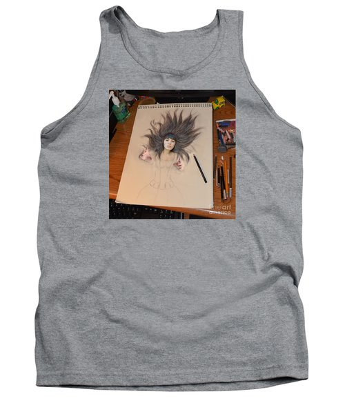 My Drawing Of A Beauty Coming Alive Tank Top by Jim Fitzpatrick