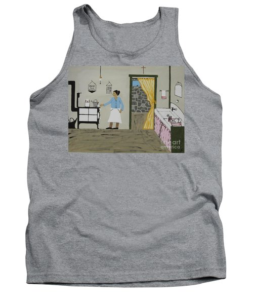 Tank Top featuring the painting Coal Miners Wife by Jeffrey Koss