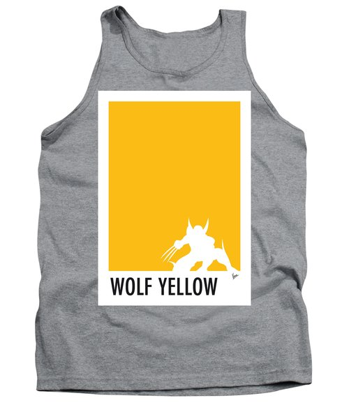 My Superhero 05 Wolf Yellow Minimal Poster Tank Top