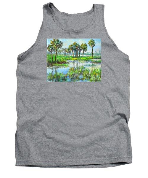 Myakka Lake With Palms Tank Top