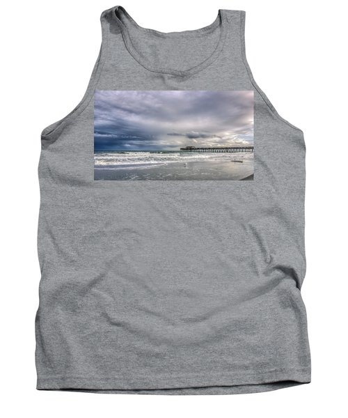 Myrtle Beach Fishing Pier Tank Top by Rob Sellers
