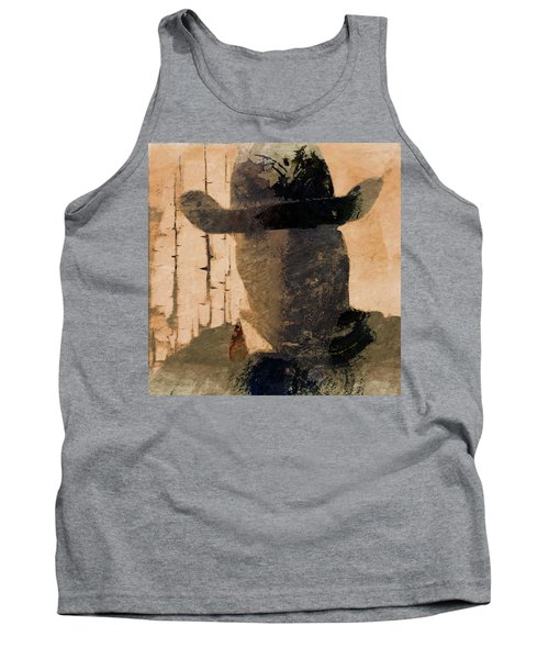 Tank Top featuring the photograph Mysterious Cowboy  by Aaron Berg