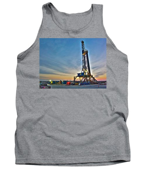 Tank Top featuring the photograph Nabors Rig In West Texas by Lanita Williams