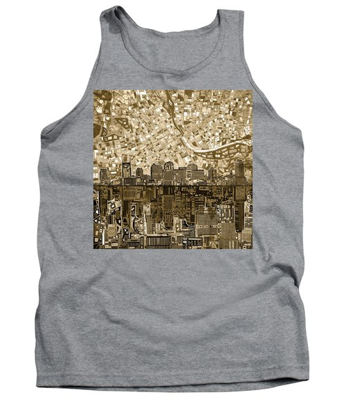 Nashville Skyline Abstract 6 Tank Top