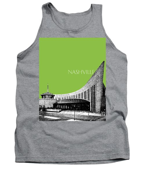 Nashville Skyline Country Music Hall Of Fame - Olive Tank Top