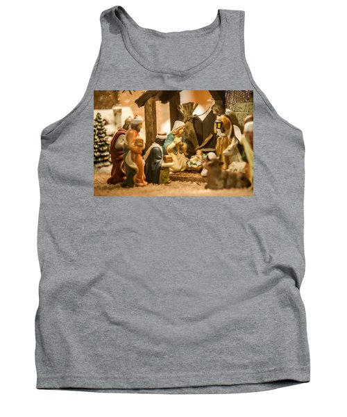 Tank Top featuring the photograph Nativity Set by Alex Grichenko