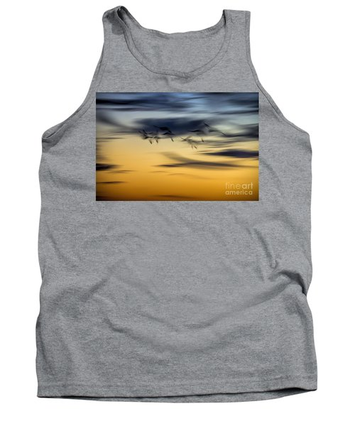 Natural Abstract Art Tank Top by Peggy Hughes