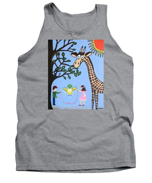 Tank Top featuring the painting Nature's Playground by Kathleen Sartoris