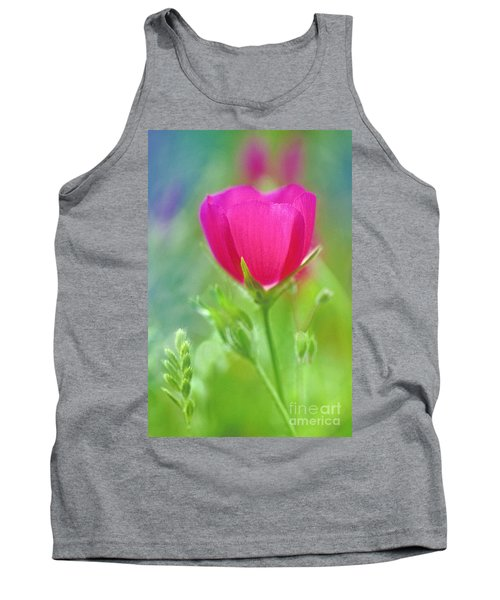 Tank Top featuring the photograph Natures Winecup South Texas by Dave Welling