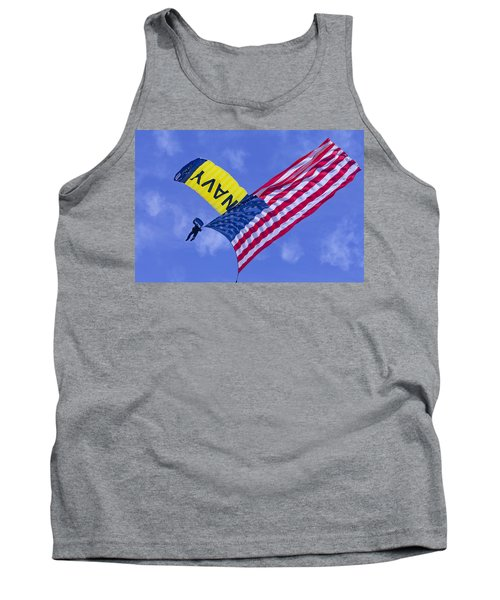 Navy Seal Leap Frogs Us Flag Tank Top