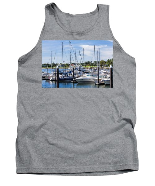 New Hampshire Marina Tank Top by Fred Larson