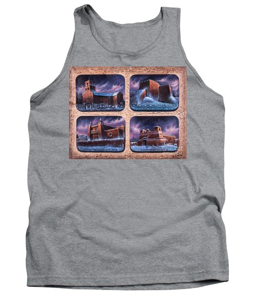 New Mexico Churches In Snow Tank Top