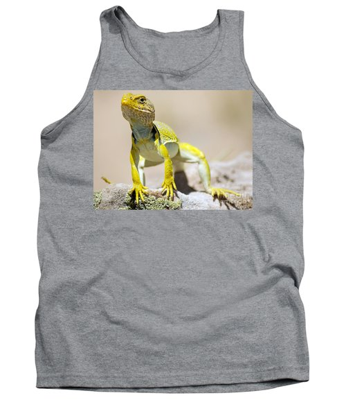 New Photographic Art Print For Sale Yellow Lizard Ghost Ranch New Mexico Tank Top