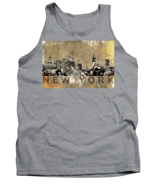 New York City Grunge Tank Top by Suzanne Powers