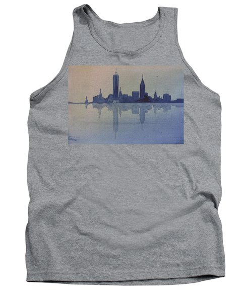 New York Skyline  Tank Top by Donna Walsh