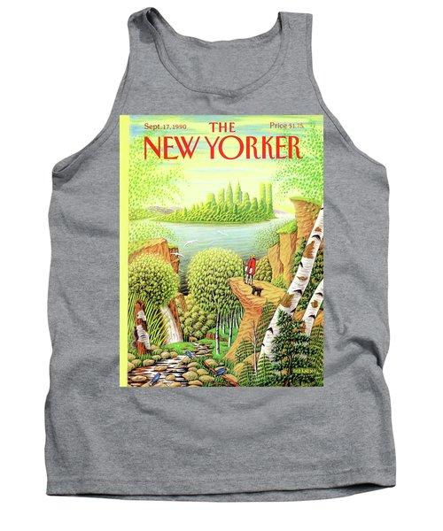 Green New York Tank Top