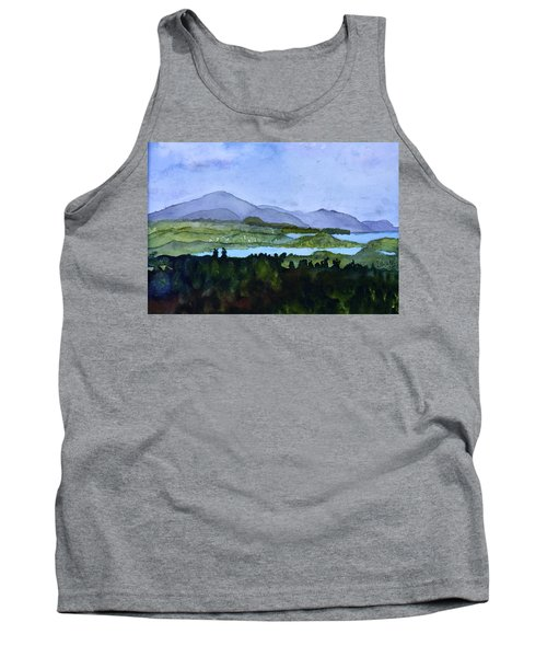 Tank Top featuring the painting Newport From Brownington Lookout by Donna Walsh