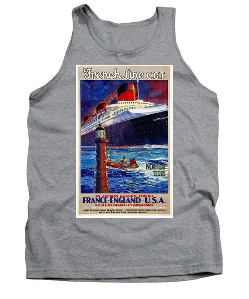 No Better Advice Than To Travel - French Line Tank Top