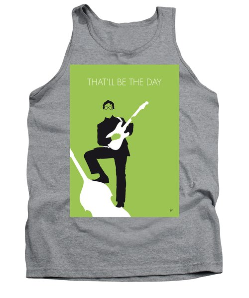 No056 My Buddy Holly Minimal Music Poster Tank Top