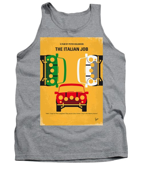 No279 My The Italian Job Minimal Movie Poster Tank Top