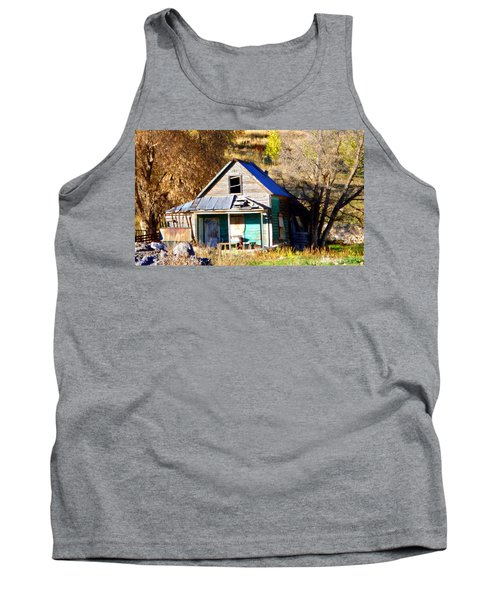 Tank Top featuring the photograph Nobody's Home by Jackie Carpenter