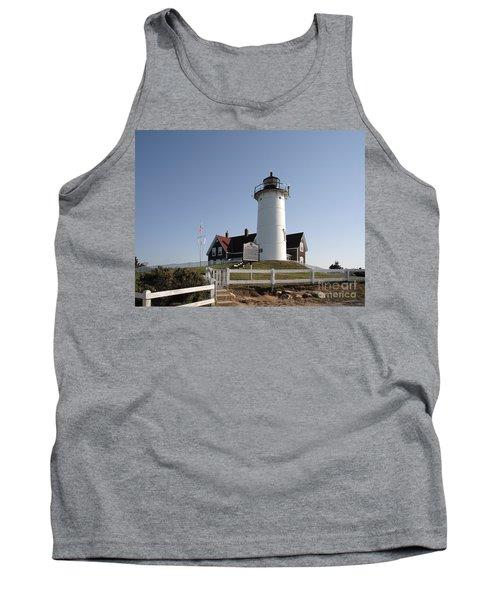 Nobska Lighthouse On Cape Cod At Woods Hole Massachusetts Tank Top