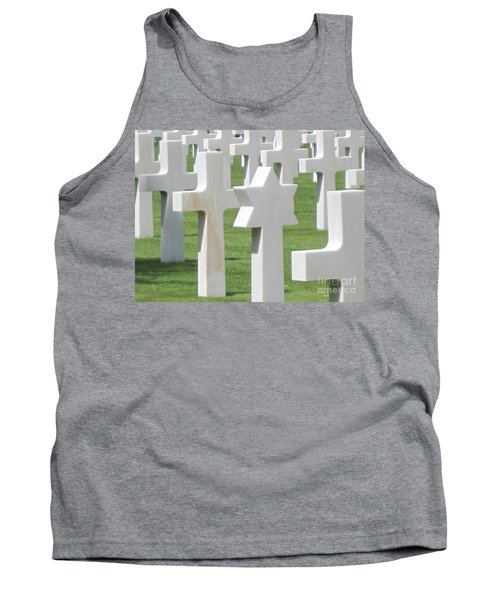 Tank Top featuring the photograph Normandy American Cemetery by HEVi FineArt