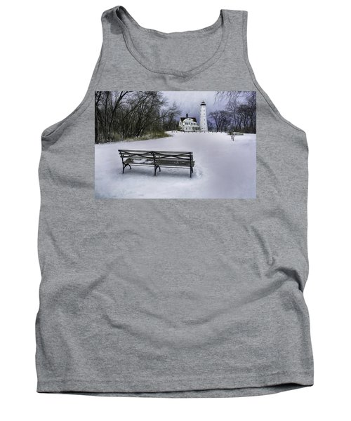 North Point Lighthouse And Bench Tank Top