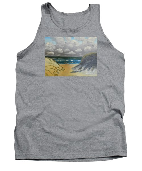 Tank Top featuring the painting North Windang Beach by Pamela  Meredith