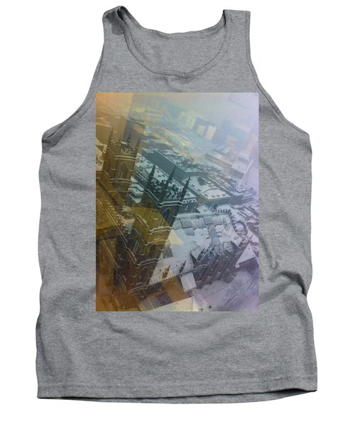 Notre Dame On The Vertical Tank Top by Valerie Rosen