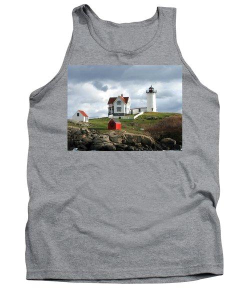 Nubble Lighthouse Tank Top by Nancy Landry