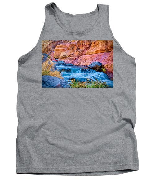 Oak Creek In The Spring Tank Top by Fred Larson