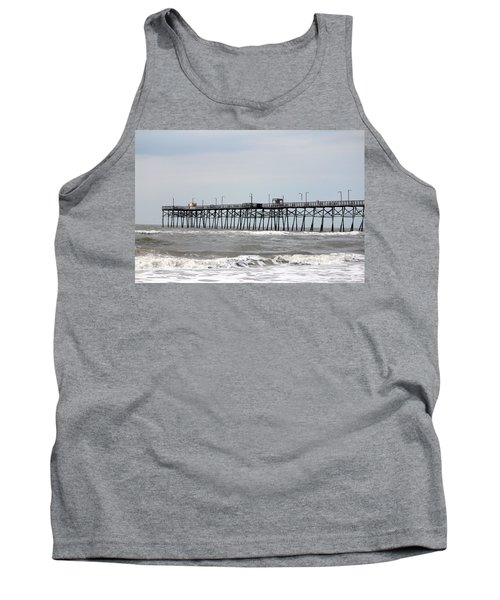Oak Island Beach Pier Tank Top
