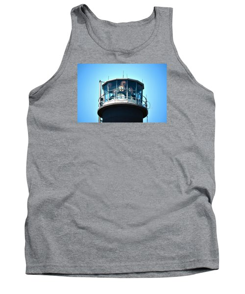 Oak Island Lighthouse Beacon Lights Tank Top by Sandi OReilly