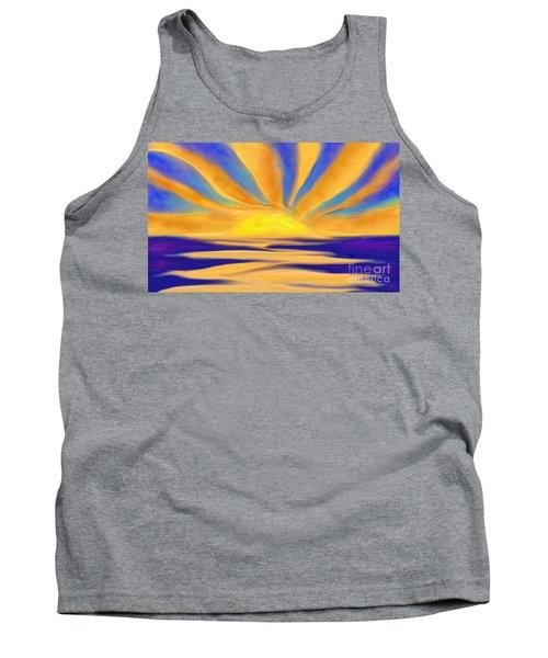 Ocean Sunrise Tank Top by Anita Lewis