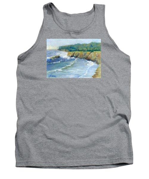 Ocean Surf Colorful Original Seascape Painting Tank Top by Elizabeth Sawyer