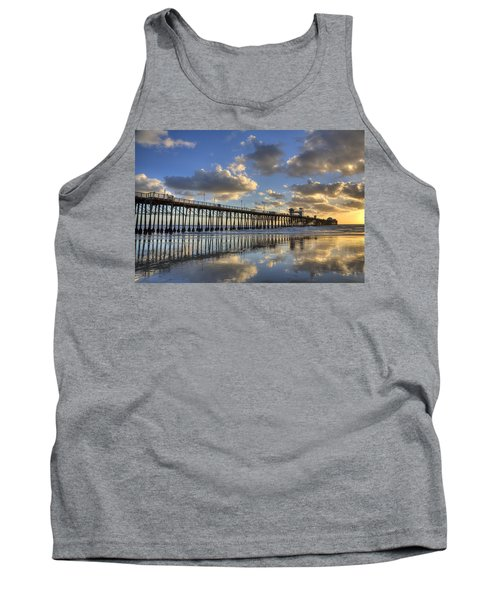 Oceanside Pier Sunset Reflection Tank Top