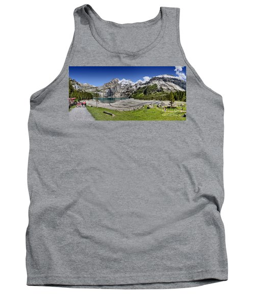 Tank Top featuring the photograph Oeschinen Lake by Carsten Reisinger
