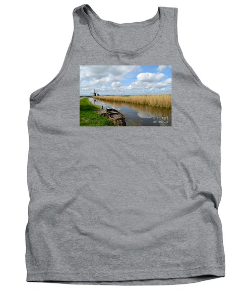Old Boat In A Canal In Holland Tank Top by IPics Photography