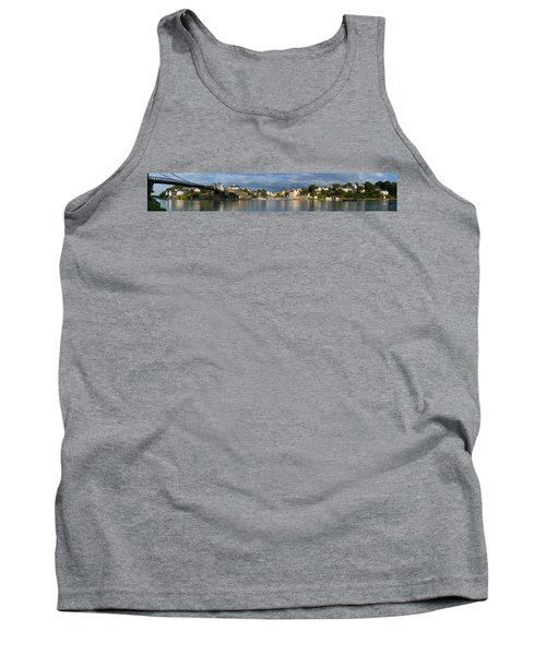 Old Bridge Over The Sea, Le Bono, Gulf Tank Top by Panoramic Images