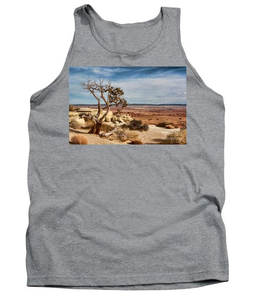 Old Desert Cypress Struggles To Survive Tank Top by Michael Flood