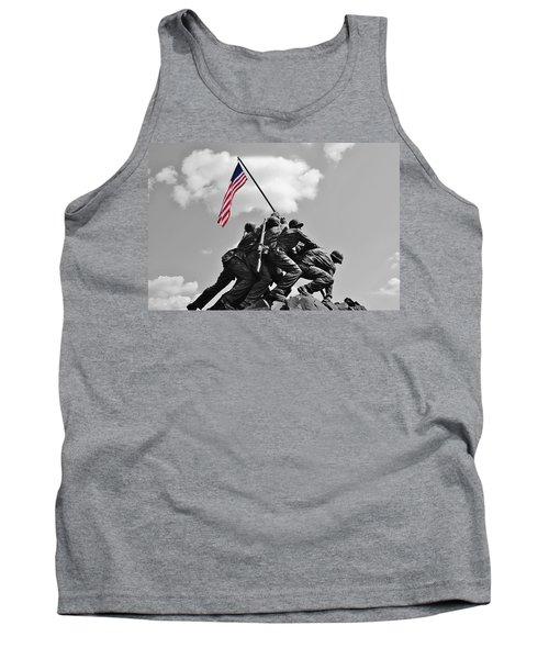 Old Glory At Iwo Jima Tank Top by Jean Goodwin Brooks