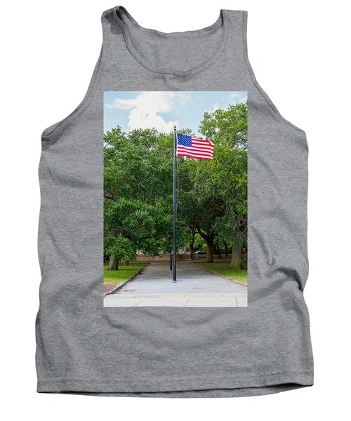 Tank Top featuring the photograph Old Glory High And Proud by Sennie Pierson