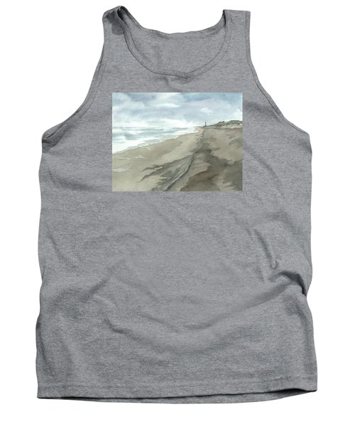 Tank Top featuring the painting Old Hatteras Light by Joel Deutsch