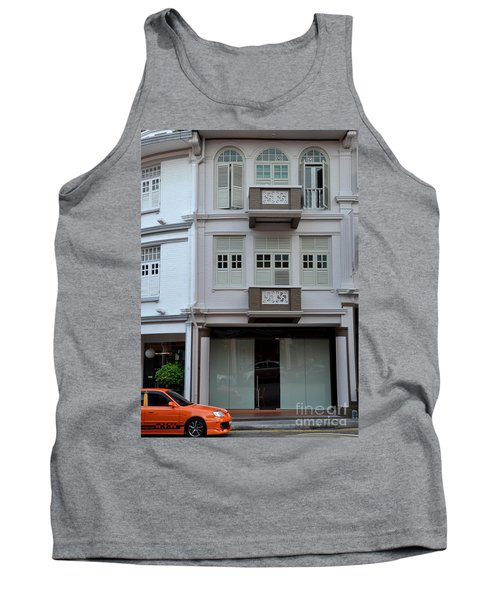 Tank Top featuring the photograph Old House And Funky Orange Car by Imran Ahmed