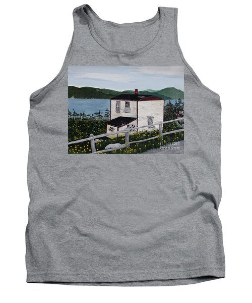 Old House - If Walls Could Talk Tank Top by Barbara Griffin