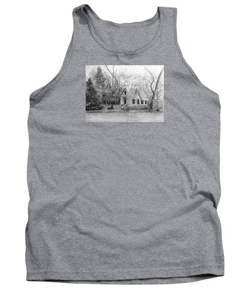 Old Library On Lake Afton - Winter Tank Top by Loretta Luglio