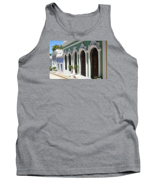 Old San Juan Street Tank Top by The Art of Alice Terrill