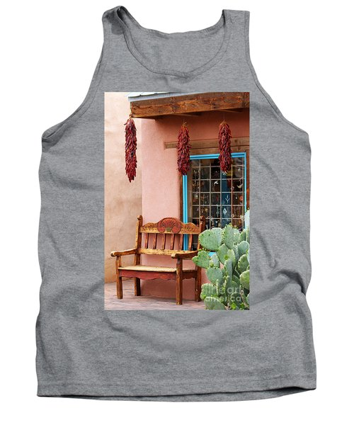 Old Town Albuquerque Shop Window Tank Top by Catherine Sherman