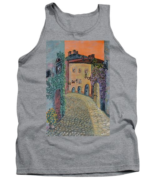 Tank Top featuring the painting Old Town In Piedmont by Felicia Tica